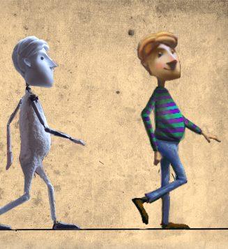 macaco camina